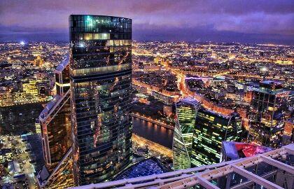 Открытая смотровая площадка в Москва-сити «Выше Только Любовь!»